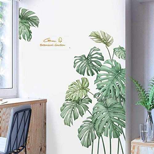 Livingroom wall decal Fall Leaves Decal Green Decals Leaf Wall Decals Wall sticker Home decor decals. Leaf Decor