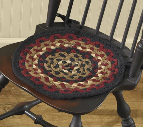 Folk Art Braided Chair Pad with Ties by Park Designs 15