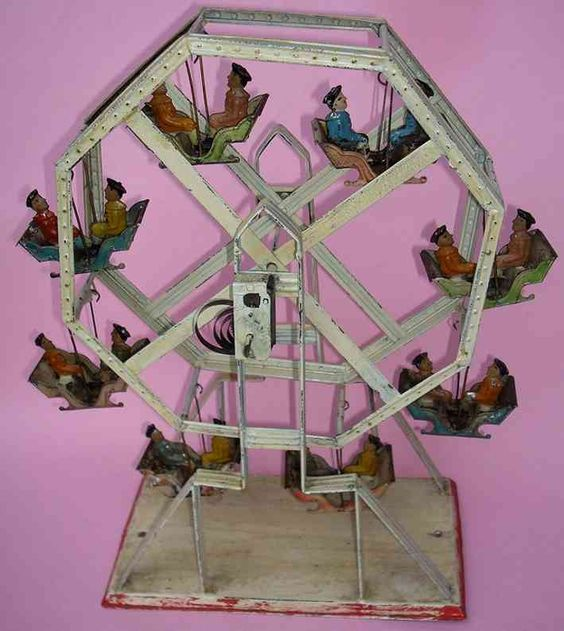 Bing Tin-Carousels Feerris wheel hand-coated