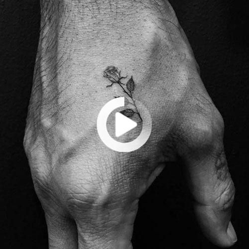 101 Best Rose Tattoos For Men In 2020 Rose Tattoos For Men Cool Small Tattoos Hand Tattoos