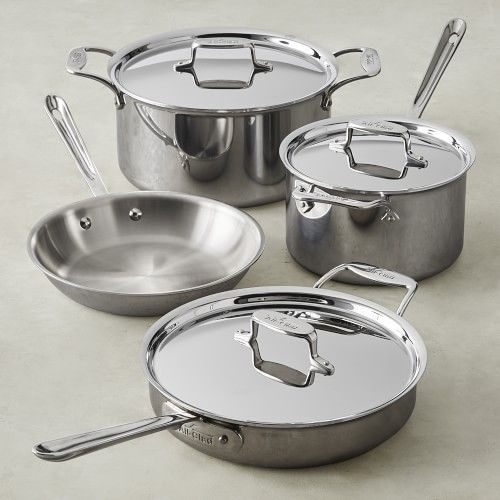All Clad D5 Stainless Steel 7 Piece Cookware Set In 2020