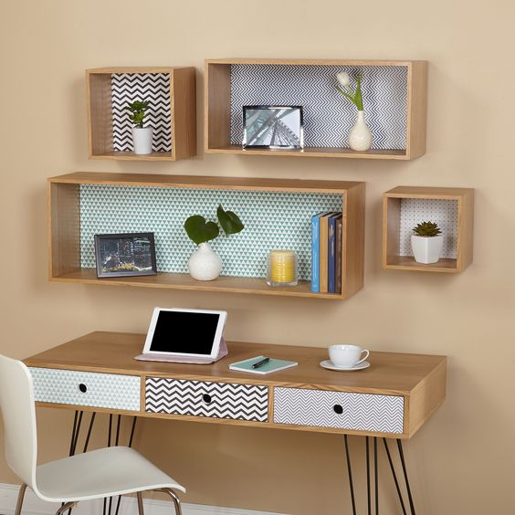 The Simple Living Geometric Wall Cubbies are the ideal solution for organizing small spaces and keeping your items off the floor.  With many options for placement, the decorating possibilities are endless.