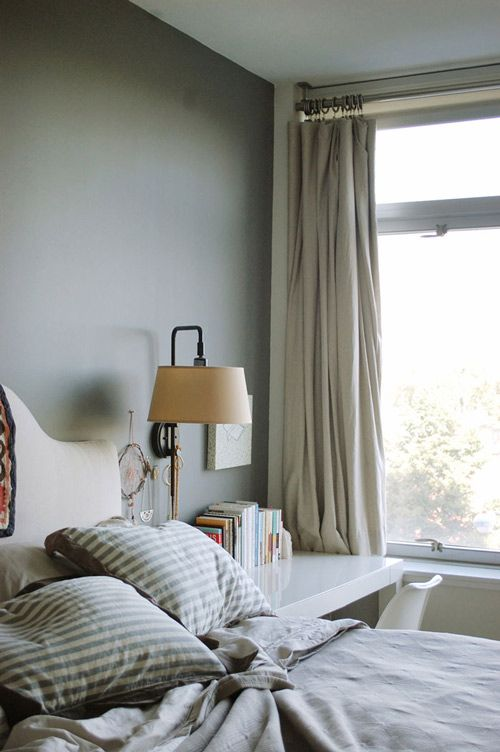 like the layout of the desk by the bed... built in nightstand!