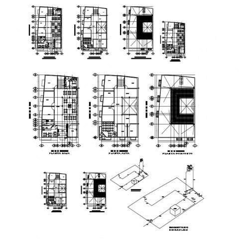 Floor Plan Distribution Layout Details Of Commercial And Shopping Center Building Dwg File