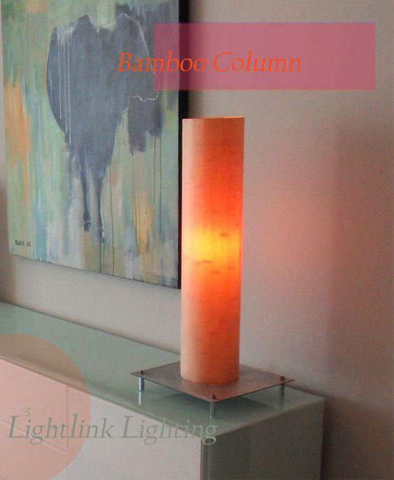 Bamboo Column touch light by Lightlink Lighting as seen in San Antonio Magazine