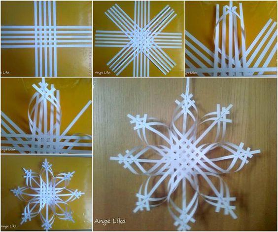 Fiocchi Di Neve Di Carta Modelli : Ecco come realizzare i fiocchi di neve di carta tanti schemi e