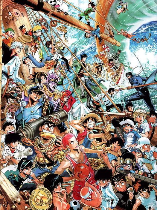 Anime Characters Collage Crossover Art Wall Print Poster Art Art Posters Ebay Anime Crossover Anime Wallpaper Manga Anime