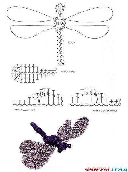 вязаная стрекоза