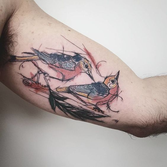 Colorful And Sketchy Tattoos By Vesna | Bored Panda