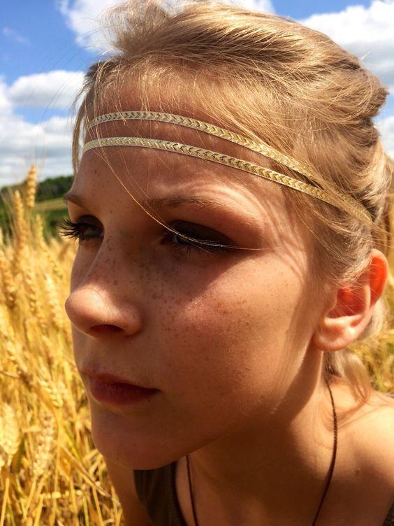 Boho style headband, baby headband, halo crown headband, gold headband, teen headband, girls headband by AniBabee on Etsy https://www.etsy.com/listing/239810197/boho-style-headband-baby-headband-halo