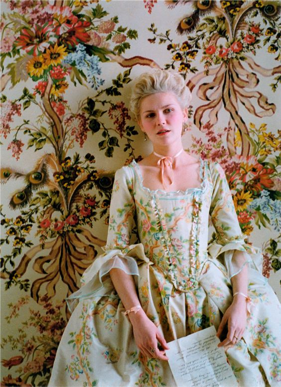 Marie Antoinette~the colors and detail in this movie is truly one of the most beautiful things i have ever seen.
