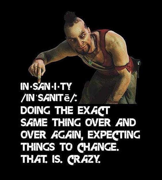 Vaas The Definition Of Insanity Far Cry 3 Imagens Aleatorias Jogos Frases