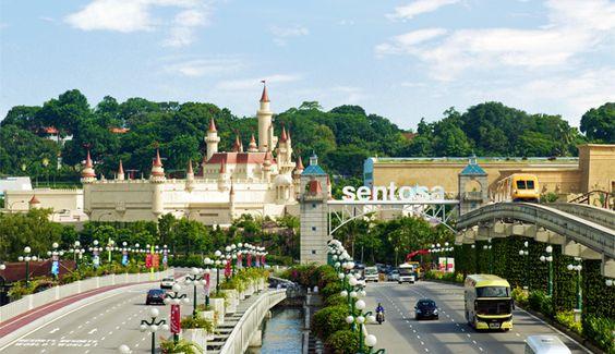 Sentosa là một hòn đảo nổi tiếng ở Singapore