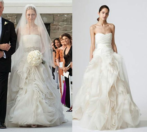 Chelsea Clinton Wedding Gown: Vera Wang, Chelsea Clinton And Diana On Pinterest