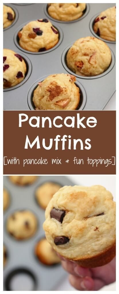 Pancake muffins are the perfect lazy morning breakfast or afternoon snack. They taste just like a pancake in muffin form, without having to worry about the flipping and cooking time of standard pancakes! @Mom to Mom Nutrition- Katie Serbinski, MS, RD