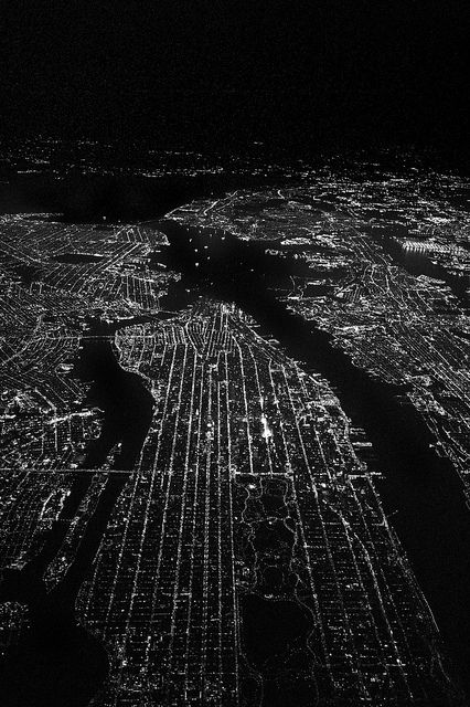 You can see the grid pattern on the Island that makes getting around Manhattan much easier -- above 14th St., that is!