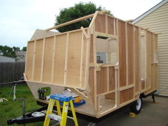 DIY Camper Trailer Built from an Old Pop-Up on a Budget of $4,500! #rv