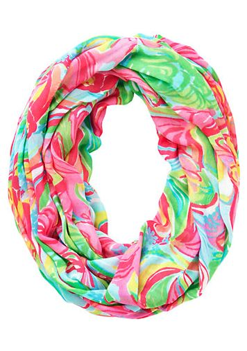 fun tropical loop scarf - Lilly Pulitzer