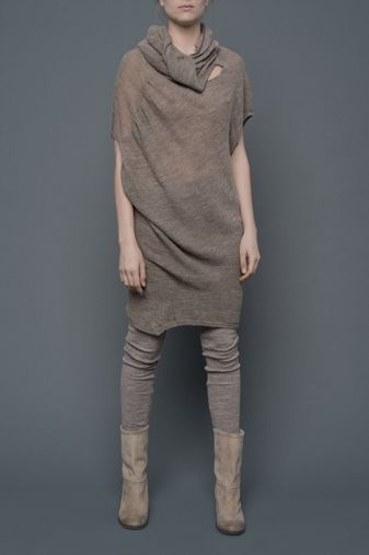 3-1-12  Dino, alpaca dress from Humanoid, AW11