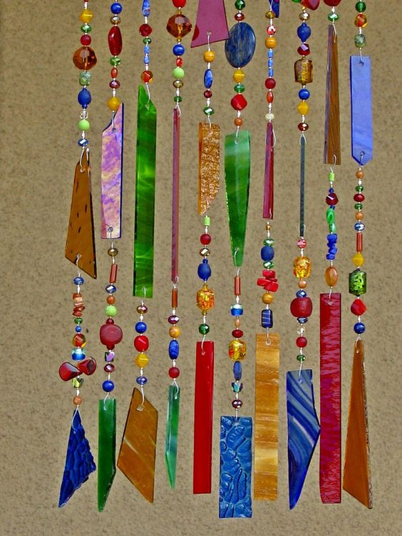 Windchime Suncatcher  Stained Glass Wind by JudyEvansCollection, $98.00