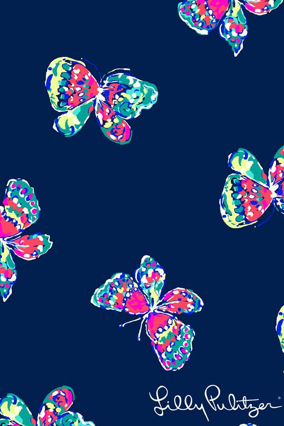 Print worth celebrating i ve got butterflies lilly - Lilly pulitzer iphone wallpaper ...
