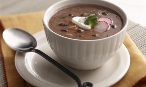 Mazola Receta - Sopa de frijoles negros al estilo cubano