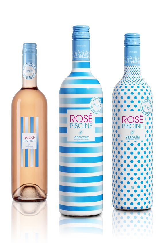 Gamme ros piscine wine packaging pinterest for Vinovalie rose piscine