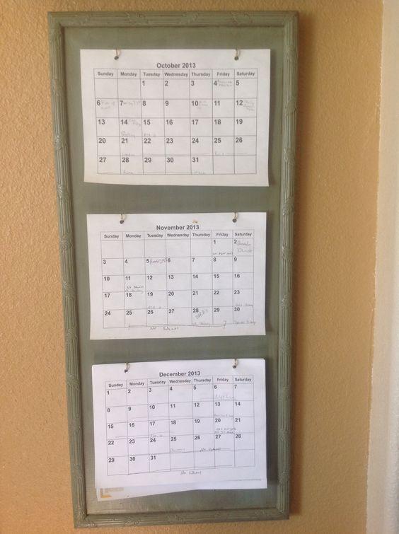 Calendar Wooden Holder : Month calendar holder diy great for planning and