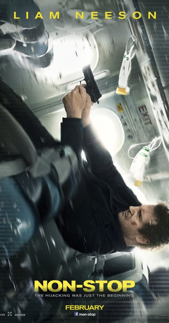 "I love this poster. It conveys the plane moving and Liam Neeson thinking, ""No, I don't want to. I'm going to stay here and defy gravity, thanks."""
