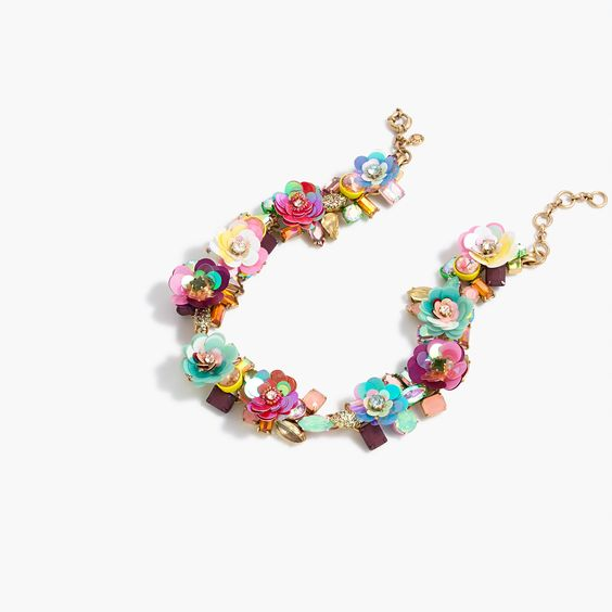 Blooming sequin paillette necklace : Jewelry Shop | J.Crew