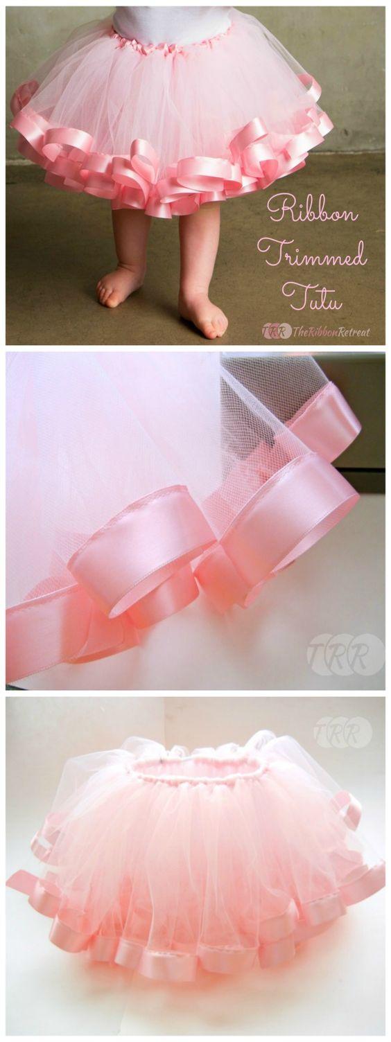Goodness, is this cute! Ribbon Trimmed Tutu Tutorial - The Ribbon Retreat Blog