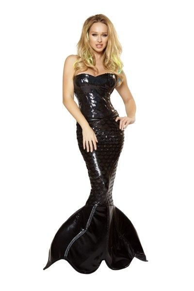 Black 2pc Mermaid Mistress Costume @ Amiclubwear costume Online Store,sexy costume,women's costume,christmas costumes,adult christmas costumes,santa claus costumes,fancy dress costumes,halloween costumes,halloween costume ideas,pirate costume,dance costu