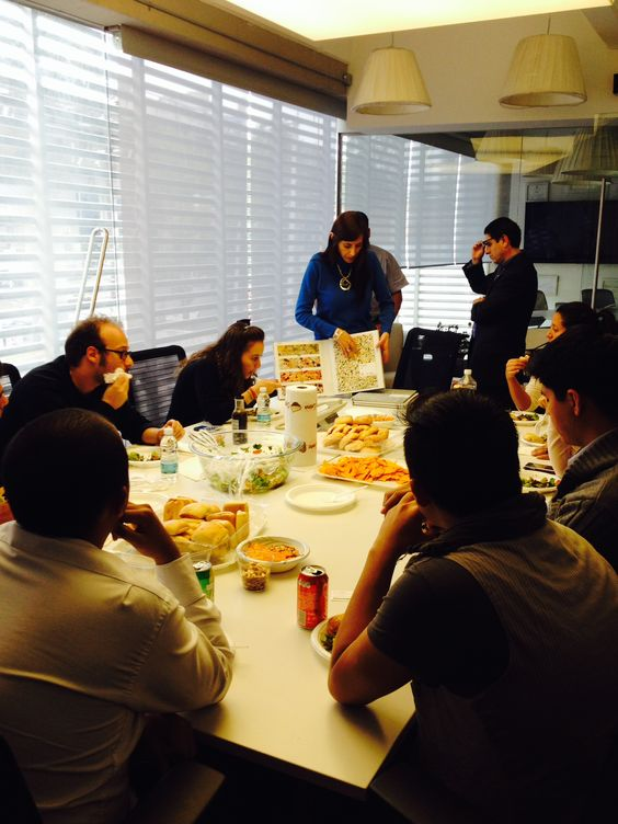 We're hearing reports from around the globe that our award-winning Art Media collection is being well received. This picture shows Milliken Associate Adriana Gonzalez presenting Art Media to an A&D firm in Mexico.