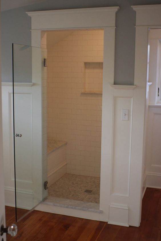 Large shower wall colors and traditional looks on pinterest for Walk in basement