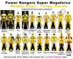 Power Ranger Keys Yellow Set - Proposal by LavenderRanger