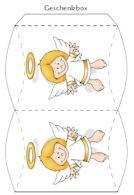 FREE printable angel Gift box // Adventskalender selbst gebastelt