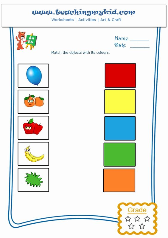 Free downloadable high-quality matching colours worksheets for 18-24 months preschool kids. leenta4 de kwartaal. Preschoolers have to match different colors written out with the correct pictures in this free printable worksheet.