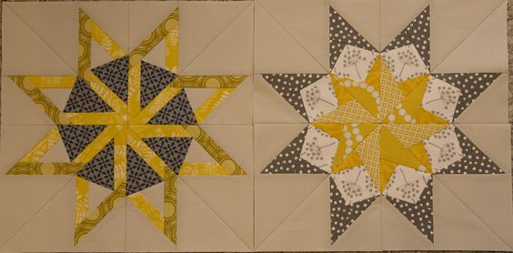 Star inspiration from Kati @the blue chair (star blocks came from the book 50 Fabulous Paper-Pieced Stars)