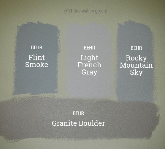 We Looked At Three Different Shades Of The Grey Blue We