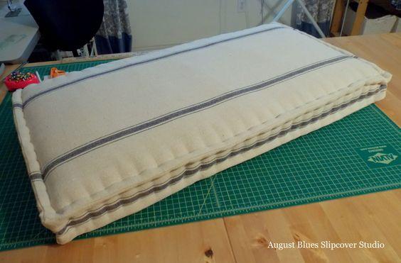 August Blues - Finished Edge Stitching