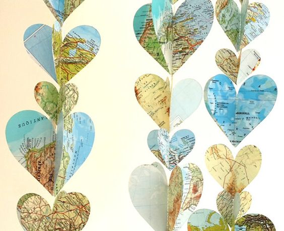 3d world map garland 6 ft voyages thme mariage dcor banderole en toile - Bon De Reduction Decoration De Mariage