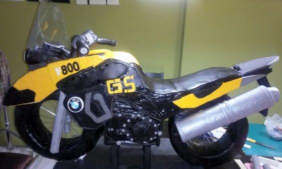 3D Motorbike Cake by Dazzling Cakes, Kuala Lumpur - Size 3x4 Feet