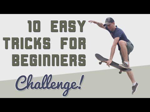 10 Easy Beginner Skateboard Tricks Vlskate Challenge Youtube Beginner Skateboard Skateboarding Tricks Skateboard