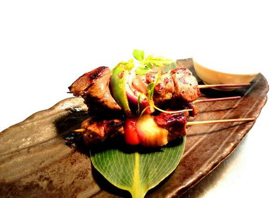 From our new dishes - Asian Mustard Beef Fillet Skewers! Tender meat marinated then char-grilled - totally yummy! (^_−)☆
