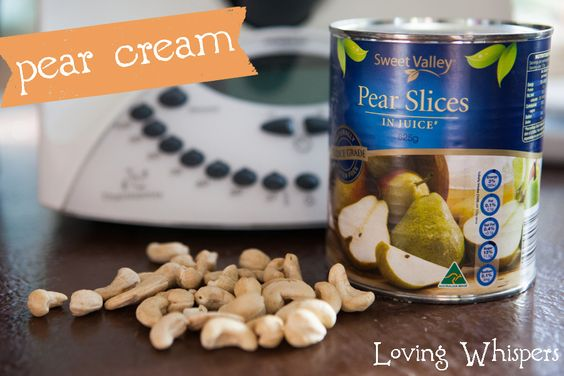 Super simple yet awesomely delicious pear cream recipe.