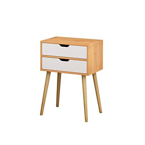 Holata 2 Drawer Nightstand Assemble Storage Cabinet Bedroom Bedside Locker Double Drawer Nightstand Bedside Lockers Nightstand Storage Bedroom Storage Cabinets