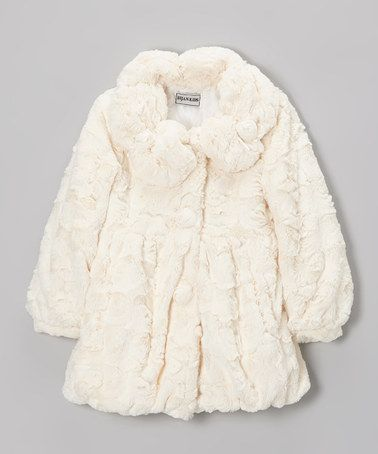 Bijan Kids Ivory Faux Fur Coat - Girls | Coats Kid and Faux fur coats