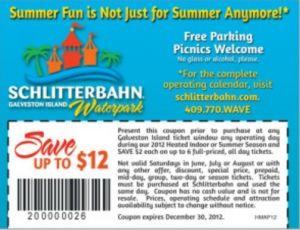 Schlitterbahn galveston coupons discount tickets