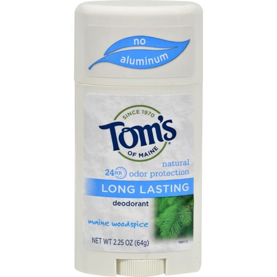 Tom's Of Maine Natural Deodorant Aluminum Free Mine Woodisplayice - 2.25 Oz - Case Of 6:
