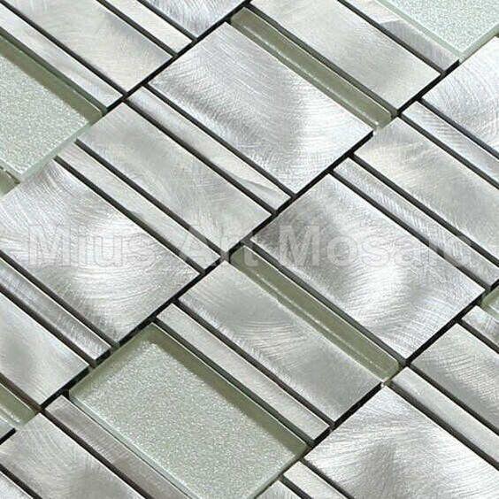 castle silver tile aluminium alloy mosaic kitchen mosaic white glass tile a1mlc010 icon2 luxury designer - Glass Tile Castle Ideas